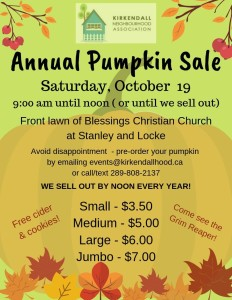 2019 pumpkin sale
